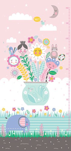 Katy Halford Illustration - katy, halford, licensing, cards, digital, mixed media, collage, digital, photoshop, illustrator, cute, sweet, young, feathers, flowers, mountains, decorative, elephant, clouds, moon, stars, sky, bird, vase,