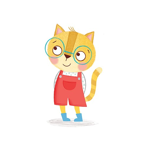 Katy Halford Illustration - katy, halford, katy halford, illustration, fiction, picture book, commercial, characters, people, animals, cat, glasses, cute, fun, child, kitten