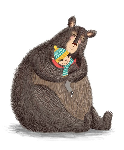 Katy Halford Illustration - katy, halford, katy halford, illustration, fiction, picture book, commercial, characters, people, animals, boy, child, bear, cute, friends, hug, cuddle, love,