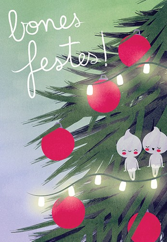 Laia Arriols Illustration - Laia, Arriols, Laia Arriols, illustration, commercial, fiction, mass market, greeting card, picture book, novelty, digital, photoshop, festive, seasonal, winter, christmas, christmas tree, tree, baubles, lights, fairy lights, fairy, fairies, imps, pixies,