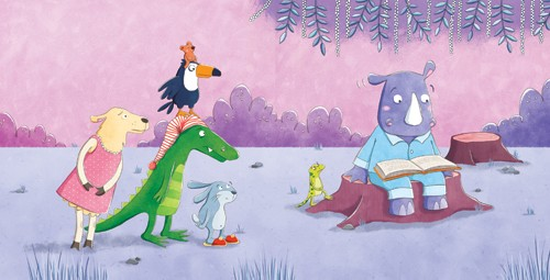 Marta Costa Illustration - marta, costa, marta costa, digital, commercial, educational, picture book, young reader, YA, colourful, colour, cute, sweet, animals, birds, crocodile, lizard, rhino, rabbit, bunny, wolf, story, friends, friendship, funny, humour, reading, story, story time, book