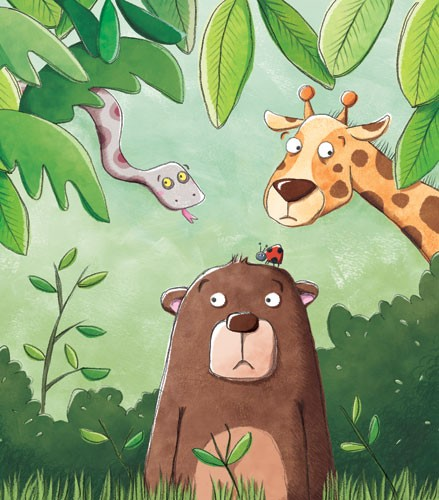Marta Costa Illustration - marta costa, digital, commercial, educational, picture book, animals, bears, giraffes, snakes, jungle