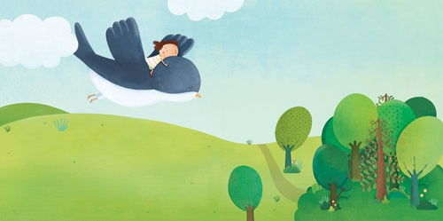Marta Cabrol Illustration - marta cabrol, marta, cabrol, painted, digital, novelty, picture book, commercial, educational, sweet, young, fiction, acrylic, trade, young reader, YA, colour, colourful, animal, landscape, flying, fly, bird, girl, person, child, figure, figurative, frien