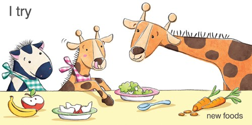 Marta Costa Illustration - marta, costa, marta costa, digital, commercial, educational, picture book, young reader, YA, colourful, colour, animals, giraffe, zebra, food, cute, sweet, carrots, fruit, apple, banana, text, type, penguins, cute, sweet, funny, books, scarf, hat, snow, s