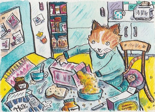 Mel Howells Illustration - mel, howells, mel howells, traditional, painted, watercolour, pen, ink, commercial, trade, fiction, educational, picture book, animal, kittens, kitty, kitties, cats