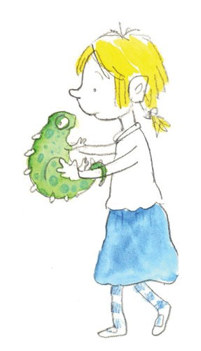 Mel Howells Illustration - mel, howells, mel howells, traditional, painted, watercolour, pen, ink, commercial, trade, fiction, educational, picture book, people, children, girls, animals, lizards, chameleons