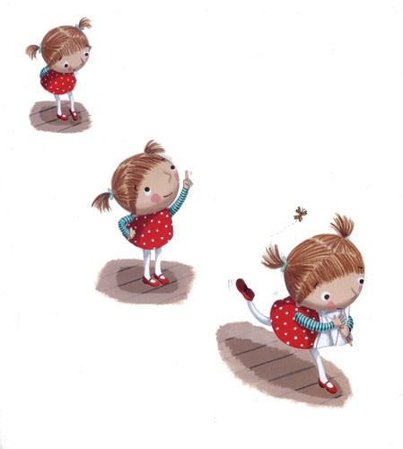 Miriam Latimer Illustration - miriam latimer, acrylic, paint, painted, traditional, commercial, picture book, picturebook, sweet, children, girls, people, animals, pandas, zoo