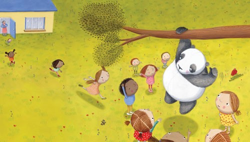 Miriam Latimer Illustration - miriam latimer, acrylic, paint, painted, traditional, commercial, picture book, picturebook, sweet, children, girls, people, boys, animals, pandas