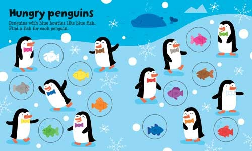 Melisande Luthringer Illustration - melisande luthringer, digital, commercial, novelty, educational, animals, penguins, winter, snow, snowing, north pole, fish, fishes