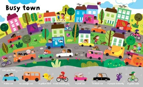 Melisande Luthringer Illustration - melisande luthringer, digital, commercial, novelty, educational, people, towns, cities, city, men, women, man, woman, children, boys, girls, driving, cars, vehicles, houses