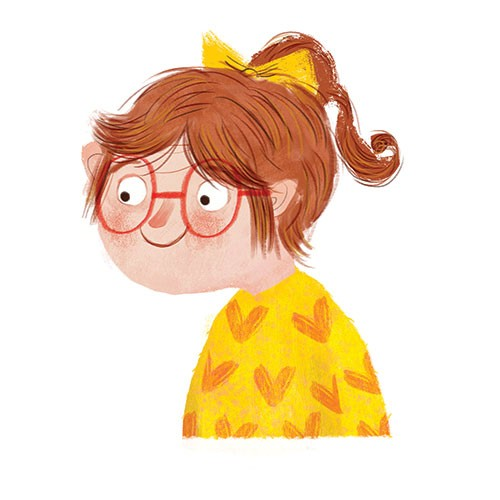 Marisa Morea Illustration - marisa, morea, marisa morea, trade, picture books, greetings cards, editorial, fiction, advertising, magazines, stationary, printed, textured, painted, digital, photoshop, illustrator, retro, girl, glasses, hearts, sweater, jumper, sweatshirt, cute, young