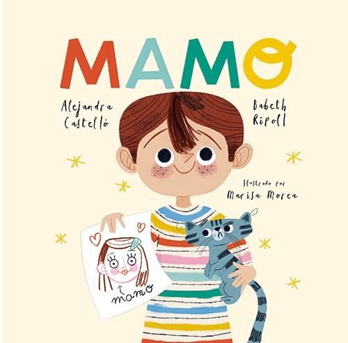 Marisa Morea Illustration - marisa morea, trade, mass market, picture books, fiction, painted, digital, photoshop, illustrator, colour, colourful, character, boy, mamo, cover, book, drawing, cat, pet, happy, cute, sweet, smile,