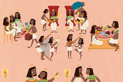 Marisa Morea Illustration - marisa, morea, marisa morea, trade, picture books, greetings cards, editorial, fiction, advertising, magazines, stationary, printed, textured, painted, digital, photoshop, illustrator, Egypt, people, person, educational, YA, young reader