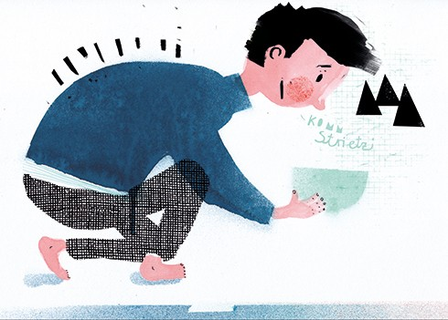 Miro Poferl Illustration - miro poferl, illustrator, trade, picture book, characters, YA, young reader, YA, young reader, boy, character, pattern, texture, painted,
