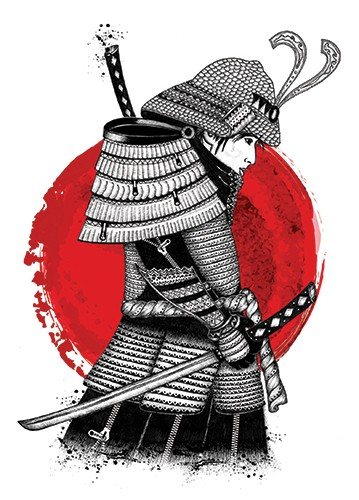 Madalina Tantareanu Illustration - madalina, tantareanu, madalina tantareanu, stationary, greetings cards, licensing, detailed, black and white, b&w, line, pencil, warrior, fight, army, detail, helmet, sword, armour