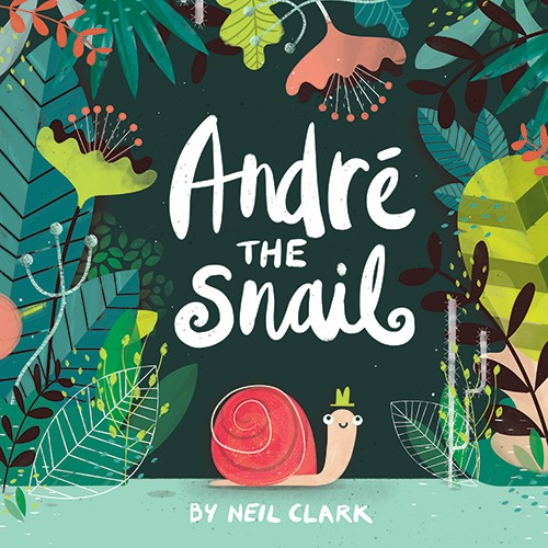 Neil Clark Illustration - neil, clark, neil clark, digital, photoshop, illustrator, picture book, young reader, mass market, snail, story, nature, flowers, plants, animal, wild, andre the snail, hat, cute, sweet, smile, small