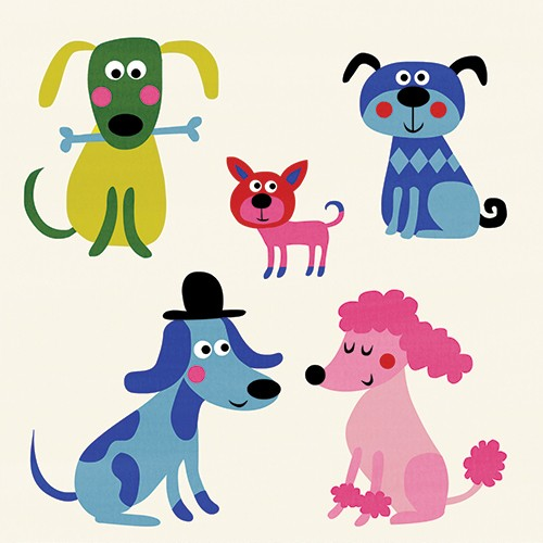 Nastja Holtfreter Illustration - nastja, holtfreter, nastja holtfreter, commercial, educational, fiction, mass market, value, greetings cards YA, young reader, picture book, digital, photoshop, colourful, pattern, dogs, pets, animals, cute, sweet, poodle