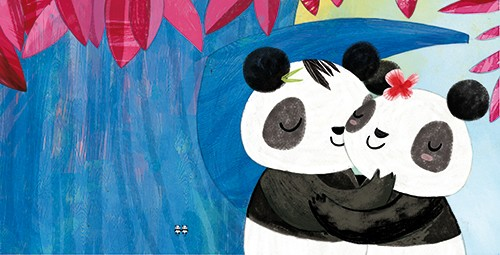 Purificacion Hernandez Illustration - Purificacion, hernandez, purificacion hernandez, commercial, trade, fiction, greetings cards, cute, sweet, young, picture books, activity, stationary, digital, photoshop, illustrator, painted, panda, love, siblings, tree, YA, young reader