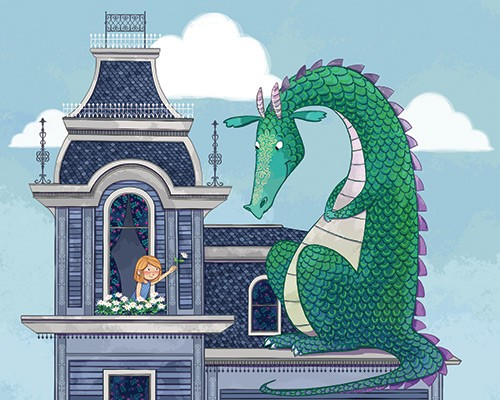 Paula Franco Illustration - paula franco, paula, franco, mass, commercial, digital, educational, advertising, editorial, novelty, fiction, young reader, photoshop, illustrator, cute, sweet, YA, fantasy, colourful, colour, castle, princess, dragon, friends, pet, clouds, flowers, wind