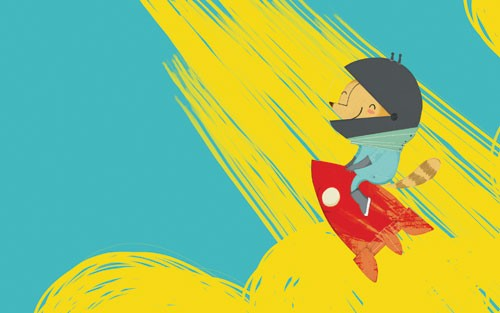 Purificacion  Hernandez  Illustration - Purificacion, hernandez, purificacion hernandez, commercial, trade, fiction, greetings cards, cute, sweet, young, picture books, activity, stationary, digital, photoshop, illustrator, painted, animal, squirrel, rocket, transfer, clourful, colour, YA, young reader, helmet, rocket