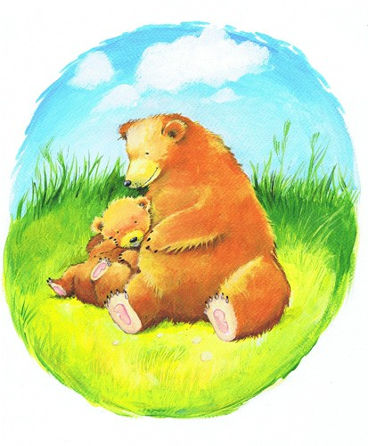 Peter Wilks Illustration - peter, wilks, peter wilks, paint, painted, acrylics, traditional, commercial, educational, picture book, picturebook, fiction, acrylic, animals, bears