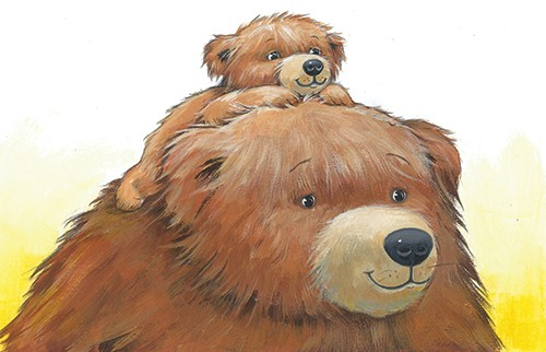 Peter Wilks Illustration - peter, wilks, peter wilks, paint, painted, watercolour, water colour, traditional, commercial, educational, picture book, picturebook, fiction, acrylic, colour, colourful, YA, young reader, animals, bear cub, bear, cub,