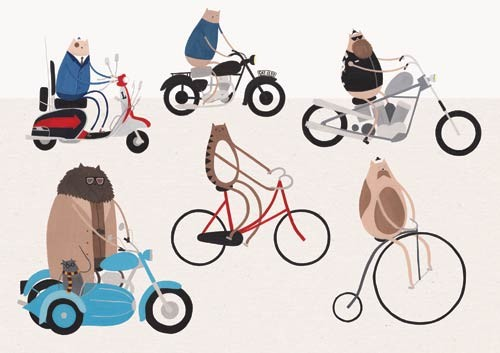 Rob Jones Illustration - rob, jones, rob jones, comercial, trade, editorial, magazines, fiction, stationary, greetings cards, magazines, digital, photoshop, illustrator, graphics, educational, picture books, animals, pets, monsters, bikes, cats, kitty, kittens, bicycles, vehicles