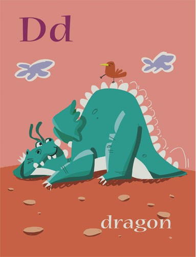 Sandra Aguilar Illustration - sandra aguilar, sandra, aguilar, digital, educational, novelty, fiction, alphabet, dragons, animals, fantasy, monsters
