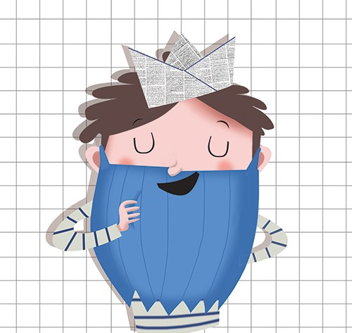 Sandra Aguilar Illustration - sandra aguilar, sandra, aguilar, digital, educational, novelty, fiction, vector, illustrator, boy, child, person, figure, beard, funny, humorous