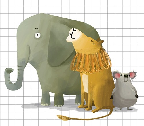 Sandra Aguilar Illustration - sandra aguilar, sandra, aguilar, digital, educational, novelty, fiction, vector, illustrator, YA, young reader, elephant, lion, koala, animals, cute, sweet
