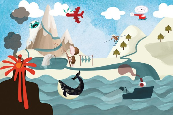 Sandra Aguilar Illustration - sandra aguilar, sandra, aguilar, digital, educational, novelty, fiction, vector, illustrator, YA, young reader, whale, animals, sea, child, person