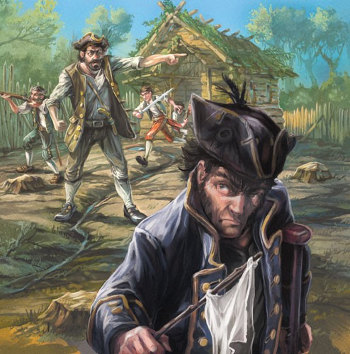 Sean Hayden Illustration - sean hayden, sean, hayden, paint, painted, digital, traditional, commercial, educational, fiction, picture books,pirates, woods, jungle, exploring, enemies, hats, men, people, characters