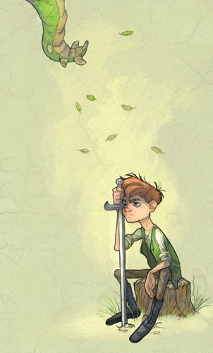 Sean Hayden Illustration - sean hayden, sean, hayden, paint, painted, digital, traditional, commercial, educational, fiction, storyboards, film, animals, pets, dragons, dinosaurs, creatures, tails, leafs, greenery, trees, stumps, woodlands, woods, forests, swords, knifes, weapons,