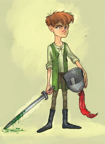Sean Hayden Illustration - sean hayden, sean, hayden, paint, painted, digital, traditional, commercial, educational, fiction, storyboards, film, boys, teenagers, fantasy, swords, knifes, weapons, hats, helmets, feathers, gooey, goo,