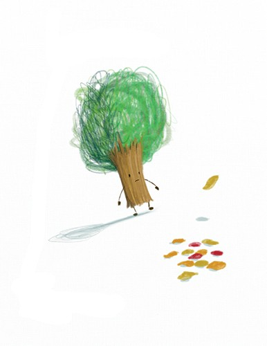 Stephen Hogtun Illustration - stephen, hogtun, stephen hogtun, drawing, paint, pen, pencil, trade, traditional, commercial, picture book, picturebook, colour, tree, flower, outside, outdoors,nature, leaves