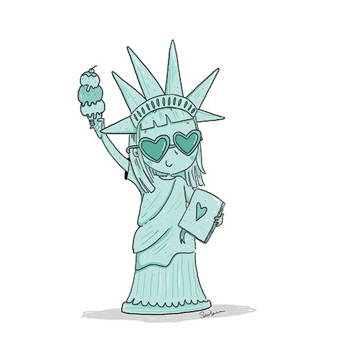 Sernur Isik Illustration - sernur, isik, illustrator, photoshop, illustrator, character, vector, picturebook, trade, YA, young reader, statue of liberty, chid, cute, sweet