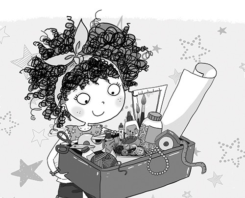 Sernur Isik Illustration - sernur, isik, illustrator, photoshop, illustrator, character, vector, picturebook, trade, YA, young reader, girl, child, cute, sweet, black and white, b+w, stars, pattern, crafts