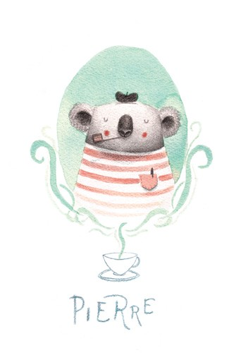 Sara Sanchez Illustration - sara sanchez, traditional, painting, painted, watercolour, acrylic, trade, commercial, picture book, animals, koalas