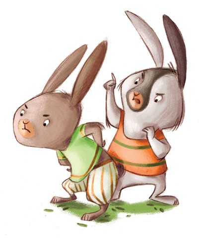 Simona Sanfilippo Illustration - simona, sanfilippo, simona sanfilippo, commercial, picture book, fiction, educational, digital, paint, painted, acrylic, rabbits, friends, friendship, binnues, cute, sweet, bright, colourful , colour