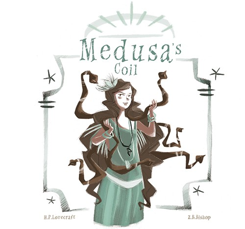 Simona Sanfilippo Illustration - simona, sanfilippo, simona sanfilippo, commercial, picture book, fiction, educational, digital, painted, photoshop, illustrator, character, colour, colourful, woman, quote, book, story, classic, medusa, myth, snakes, hair, greek, mythology, fantasy, magic