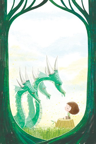 Sara Sanchez Illustration - sara sanchez, sara, sanchez, digital, texture, photoshop, illustrator, trade, commercial, mass market, picture book, YA, young reader, girl, child, cute, sweet, dragon