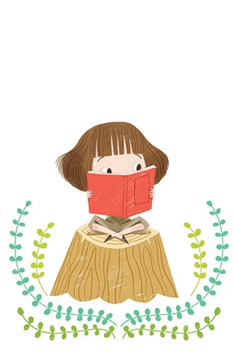 Sara Sanchez Illustration - sara sanchez, sara, sanchez, digital, texture, photoshop, illustrator, trade, commercial, mass market, picture book, girl, cute, sweet, reading, pattern, YA, young reader, colourful