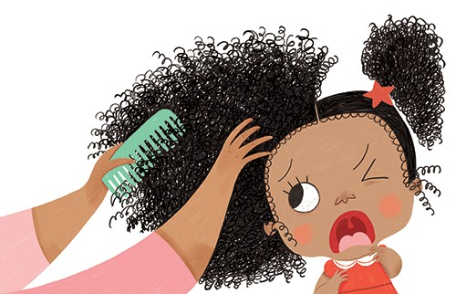Sara Sanchez Illustration - sara sanchez, sara, sanchez, digital, texture, photoshop, illustrator, trade, commercial, mass market, picture book, hair, funny, humorous, YA, young reader, girl, cute, sweet