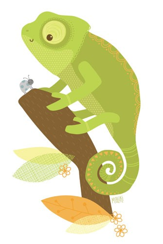Sarah Ward Illustration - sarah ward, sarah, ward, novelty, picture book, digital, young, sweet, commercial, educational, activity, animals, lizards, chameleons, greetings cards