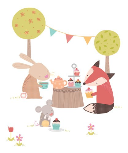 Sarah Ward Illustration - sarah ward, sarah, ward, novelty, picture book, digital, young, sweet, commercial, educational, activity, animals, fixes, rabbits, bunny, bunnies, mice, mouse, birthday party
