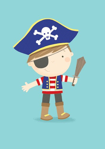 Sarah Ward Illustration -  sarah ward, sarah, ward, novelty, picture book, digital, young, sweet, commercial, educational, activity, cute, YA, young reader, colourful, boy, character, pirate, hat, sword, eyepatch, dress up, costume, dressing up, fancy dress, cute, sweet