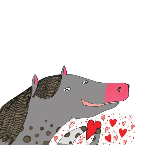 Valeria Valenza Illustration - valeria, valenza, valeria valenza, paint, painted, traditional, decoration, decorative, trade, sophisticated, picture book, picture book, YA, young reader, quirky, animal, horse, heart, pattern
