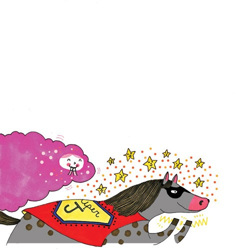 Valeria Valenza Illustration - valeria, valenza, valeria valenza, paint, painted, traditional, decoration, decorative, trade, sophisticated, picture book, picture book, YA, young reader, quirky, horse, animal, clods, stars, pattern