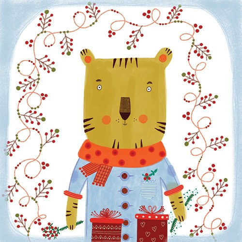 Valeria Valenza Illustration - valeria, valenza, valeria valenza, paint, painted, traditional, decoration, decorative, trade, sophisticated, picture book, picture book, animals, quirky, pattern, bear