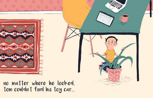 Will Bonner Illustration - will bonner, commercial, trade, educational, fiction, editorial, advertising, greetings cards, stationary, table, chair,  surface pattern design, picture book, painted, textured, photoshop, boy, car, home, lost, plant, toy, carpet